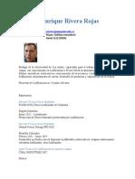 1 C,V Especilista en Liofilización de Alimentos :Jorge EnriqueRivera Rojas