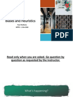 Biases and Heuristics - Pearl