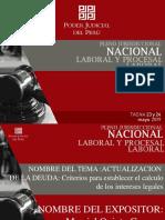Pleno jurisdiccional nacional laboral y procesal