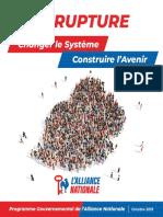 L'alliance Nationale dévoile son manifeste électorale