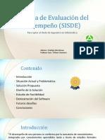 Sistema de Evaluación Del Desempeño (SISDE)