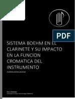 Sistema Boehm en El Clarinete Soprano en Bb y Su Impacto en La Funcion Cromatica Del Instrumento
