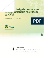 O Uso de Insights Comportamentais Na Atuação Da CVM - Educação Financeira