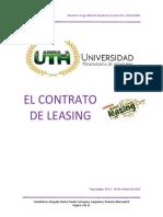 Contrato Leasing Derecho Mercantil II Parcial Uth Jorge Barahona