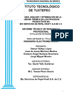 Estudio, Análisis, Optimización de La Energía Térmica en Los Procesos Productivos en Bio Servicios de Papel Kraft, s.a de c.V