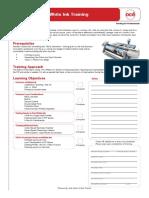 Arizona Printer White Ink Training Checklist