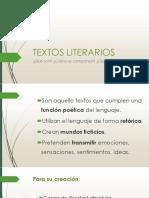 Textos literarios descripción