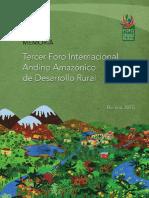 Tercer Foro Internacional Andino Amazónico de Desarrollo Rural - Mamoria