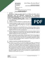 Elevación de Actuados N° 1377-2018, usurpación y daños infundada