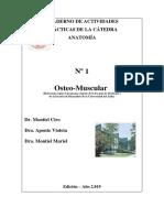 CUADERNO DE  ACTIVIDADES PRÁCTICAS  Nº 1 DE LA CÁTEDRA ANATOMÍA Edicion 2018