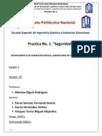 Practica 1 Seguridad de quimica organica de ESIQIE