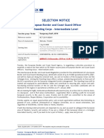 Selection Notice - European Border and Coast Guard Officer - Intermediate Level - AST4