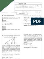 Matemática - Exercícios Resolvidos - Pré-Vestibular - I