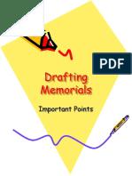 Drafting Memorials