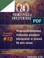 Princípios de Prosperidade 10 Impossibilidades Bloqueando a Doação Por Fé