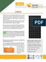 Solar Module Information