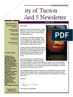 City of Tucson Ward 5 Newsletter - October 2019