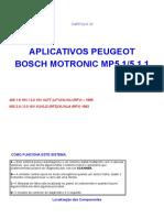 APLICATIVOS PEUGEOT BOSCH MOTRONIC MP5.1/5.1.1  Capitulo 22 Peugeot