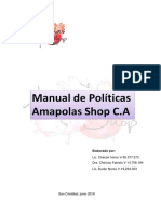Manual de Politicas Amapolas Shop C.A