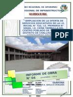 CARATULA INFORME N° 04 DICIEMBRE TAMBULLA E.B.S.