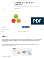 Evolution of the Web 1.0, 2.0 & 3.0 - Differences & Features