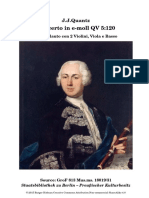 Flute Concerto Quantz Qv5:120