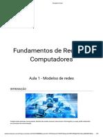 Fundamentos de Redes de Computadores - Aula 1 - Modelos de Redes