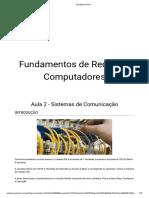 Fundamentos de Redes de Computadores - Aula 2 - Sistemas de Comunicação