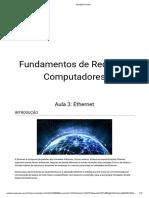 Fundamentos de Redes de Computadores - Aula 3 - Ethernet