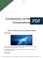 Fundamentos de Redes de Computadores - Aula 4 - Protocolos Da Camada de Rede