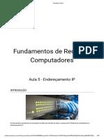 Fundamentos de Redes de Computadores - Aula 5 - Endereçamento IP