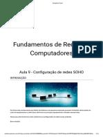 Fundamentos de Redes de Computadores - Aula 9 - Configuração de Redes SOHO