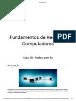 Fundamentos de Redes de computadores - Aula 10 - Redes sem fio.pdf