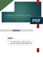 Sesión 14_LA REDACCIÓN ESTILO APA.pptx