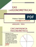 Matemática PPT - Lineas Seno, Coseno y Tangente