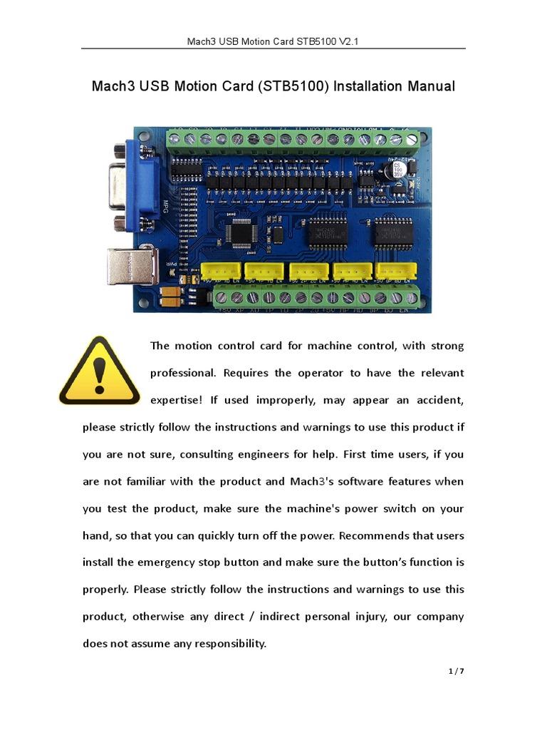 Usb Motion Card Stb5100 Manual Power Inverter Usb