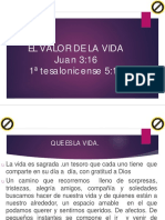 EL VALOR DE LA VIDA