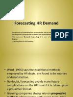 Forecasting HR Demand