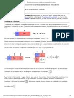 Resolviendo Ecuaciones Cuadráticas Completando El Cuadrado