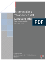 Plan de Intervención Fonoaudiológico