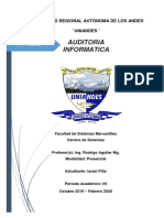 Auditoria Informatica y Auditoria de Sistemas