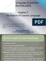 nature of learner language