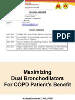 2 Dr Reza Maximizing Dual Bronchodilators for COPD Patient's Benefit Dr Reza Kurniawan T, SpP FCCP
