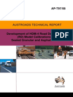 AP-T97-08Development of HDM-4 Road Deterioration (RD) Model Calibrations for Sealed Granular and Asphalt Roads