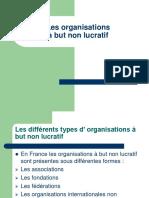 Les Organisations a but Non Lucratif CREG AGS 2