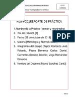 Reporte de Practica Con Vernier y Micrometro