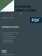 Protocolos de comunicação industrial - MODBUS E FIELDBUS