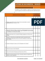 Anexo 2 - Listado de Documentos Reunión de Arranque 130619
