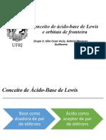 Seminário Inorgânica - Ácidos e Bases