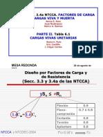 Factores Carga Optimos Combinaciones Viva Muerta Sonia Elda Ruiz